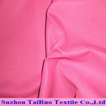 Tissu brossé de peau de pêche de polyester et tissu de polyester de stock