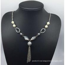 Bunte Perlen Pullover Halskette (XJW13757)