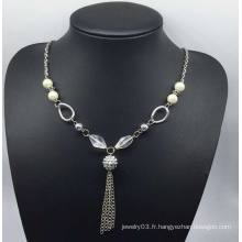 Collier coloré de chandail de perle (XJW13757)
