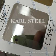 De alta qualidade 201 cor de aço inoxidável Ket011 gravado folha