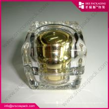 Премиум Сопутствующие товары Золотой акриловый косметический контейнер с кремовым кремом