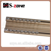 Home Decor Internal Article Silencer Ceiling Aluminum Double Curtain Track