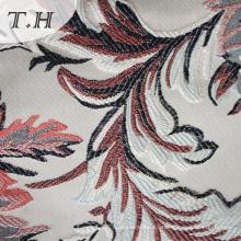 Tela de tapicería de Jacquard del estilo de la hoja