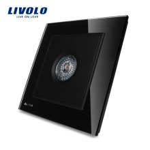 LIVOLO Knight Panneau en verre de cristal noir Interrupteur temporisé de contrôle du son et de la lumière et des capteurs de mouvement VL-W291SG-11