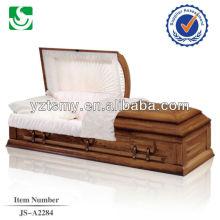 Cremation wooden carving plain custom cheap casket