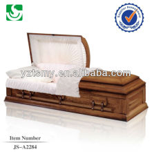 Cremation wooden carving plain custom cheap casket