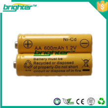Populaire lr6 rechargeable 1.2v 250mah 2/3 aa ni-cd batterie rechargeable