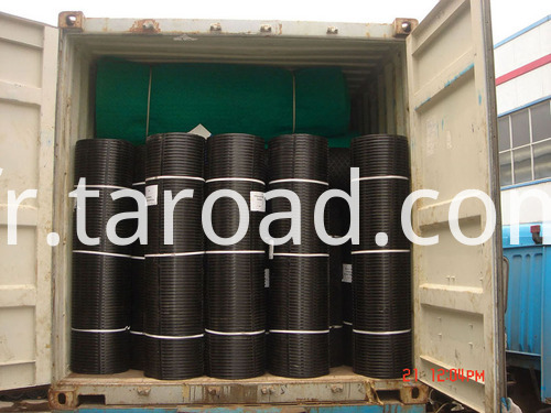 PP Uniaxial geogrid used for retaining wall