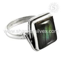 Scenic Labradorite Gemstone Silver Ring atacado 925 Sterling Silver Jewelry Indian Handmade Online Silver Jewelry