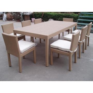 Bistro Aluminium extérieur dinant l'ensemble de chaises