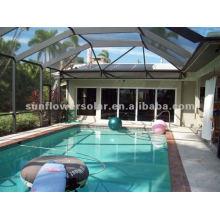 Sistema de colector solar de tubería de calor para piscina