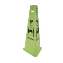 Custom Print Yellow Portable PP Material Wet Floor Warning Board Traffic Cone Signs No Parking Sign