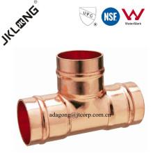 J9401 Conexão de cobre Igual T para solda de encanamento