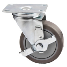 127mm PU Medium Duty Caster with Side Brake
