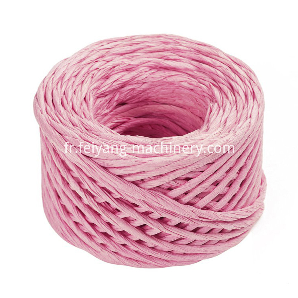 Pink Color Twisted Paper Cord