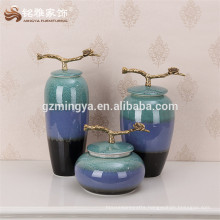 2016 most popular large floor decorative flower vase,ceramic gradient blue color decorative vase