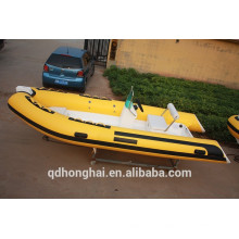 RIB470 boat with ce inflatable boat with rigid floor RIB470 china boat
