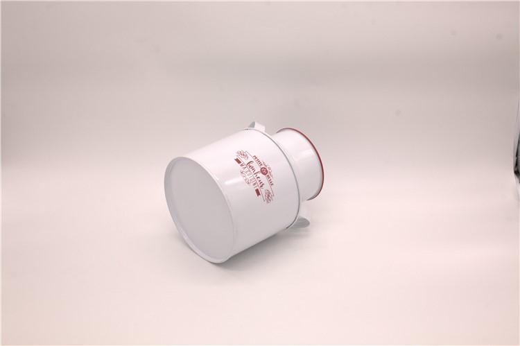 White Enamel Milk Can