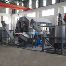 PET bottle flakes hot Washing &separating recycling machine