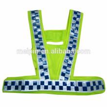 franja que advierte la cinta reflexiva de la micro prisma de la seguridad para la ropa