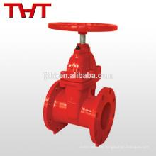 pn16 válvula de compuerta de control de incendio asentada resistente dn80