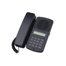 Teléfono de voip de la oficina con la cáscara negra del ABS