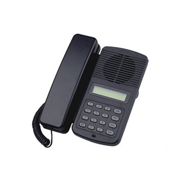office voip telephone with black abs shell