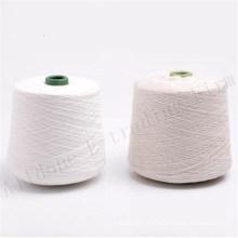 Hilo de coser de rosca cerrado 100% hilado de poliéster blanco crudo