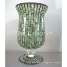 Jarrón de vidrio de mosaico (TS015-03)
