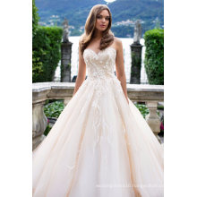 Sweetheart Lace Champagne Ball Wedding Dress Bridal Gowns