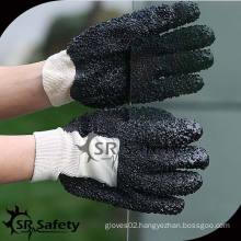 SRSAFETY black Heavy duty pvc coated glove