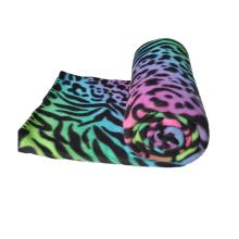 Красочный флисовый плед с принтом гепардов