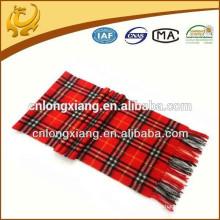 Bufandas tejidas escocesas Venta al por mayor 100% Material de cachemira Bufanda real de cachemira para hombres y mujeres