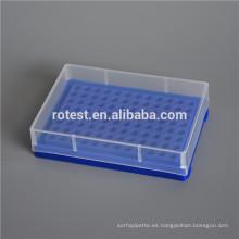 Caja de tubo de PCR de microcentrífuga de tubo de 0.2ML