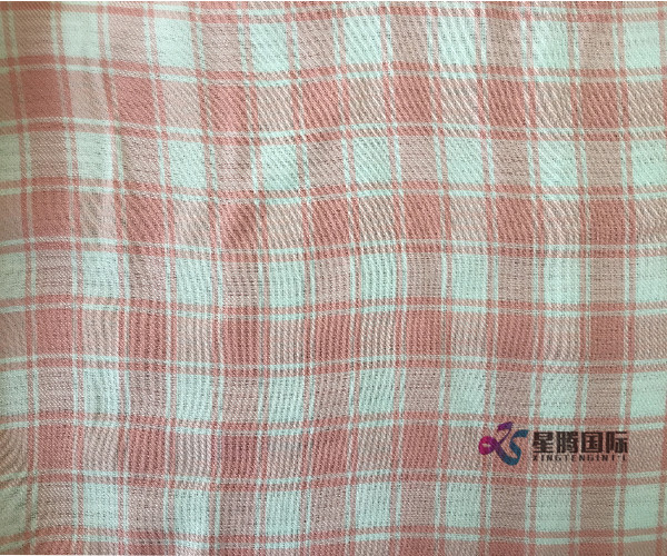 Tencel Pink Plaid Fabric