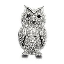 New Design Owl Shape CZ Zircon Pendant Jewelry Charms Accessry