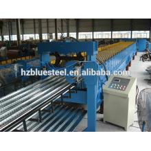 Máquina de laminação de rolo de telha de aço galvanizado para piso de construção de metal