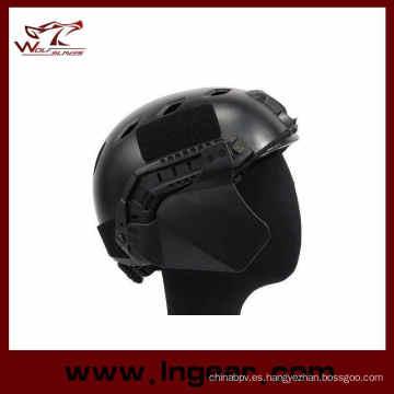 para arriba-armadura cubierta lateral rápido casco carril orejeras orejeras