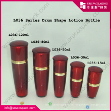 Botella roja de la bomba de la loción