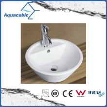 Lavabo de la cerámica del arte del gabinete y lavabo de la tapa de la vanidad (ACB8244)