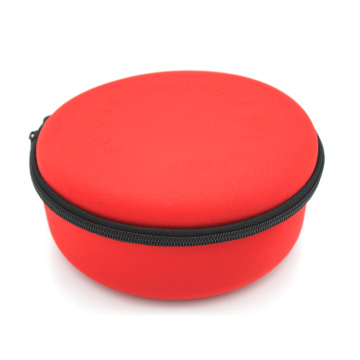 Top selling hard shell elastic cord eva makeup case with embossed logo