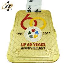 Venta al por mayor más barata personalizar medallas de metal de judo con cinta