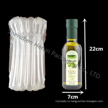 Бесплатная доставка 750ml стеклянная бутылка вина с мешком столбца