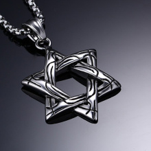 Top Quality Fashion Jewelry Stainless Steel Six-pointed star pendant