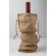 Burlap Weinbeutel