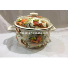 2015 flower printing enamel pot good quality cook ware 2015 flower printing enamel pot good quality cook ware