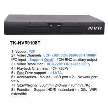 8CH CCTV Red DVR