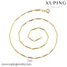 42262-Xuping Мода Золото Ювелирные Изделия Цепь Ожерелье Дизайн Для Женщин