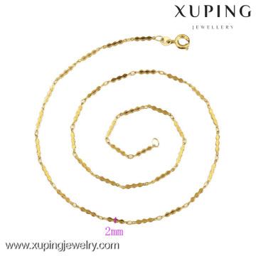 42262-Xuping Moda Jóias De Ouro Colar De Corrente De Design Para As Mulheres