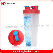 800ml plastic double separated shaker bottle BPA free(KL-7015B)